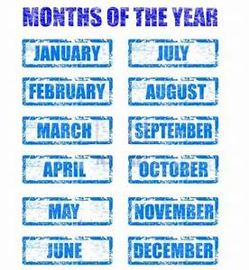 Months Of The Year Templates