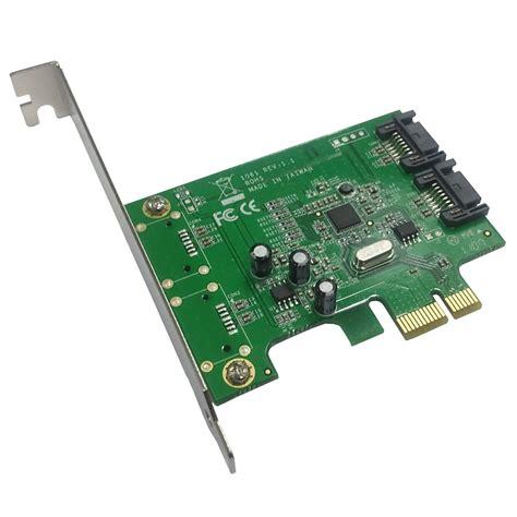 disque dur interne pc bureau carte contrôleur sata 6gb s 2 ports internes pci express