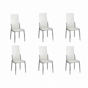 Stühle Esszimmer Weiß : der esszimmer st hle 6er set wei chrom kunstleder online shop ~ Sanjose-hotels-ca.com Haus und Dekorationen