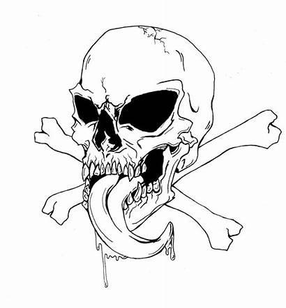 Skull Bones Coloring Pages Drawing Crossbones Drawings