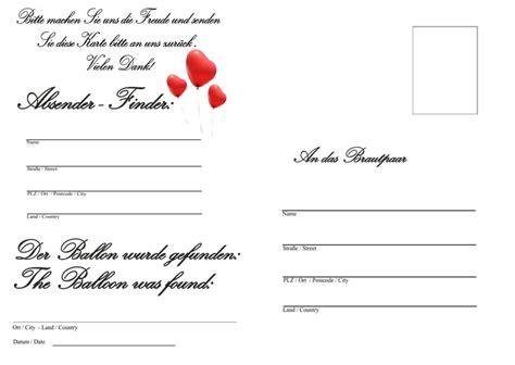ballonflugkarten hochzeit wir haben geheiratet