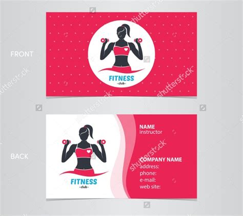 fitness business card templates ms word photoshop