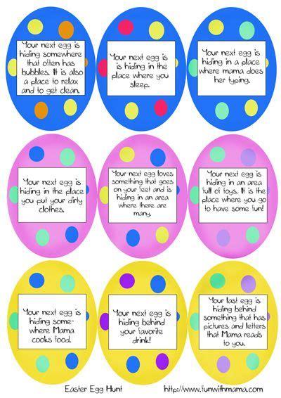 printable easter egg hunt ideas clues easter 271   c0e557f86dd4d78efa3d7c50841d9760