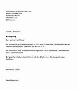 Kündigungsfrist Berechnen Arbeitgeber : k ndigung arbeitsvertrag muster und vorlagen kostenlos ~ Themetempest.com Abrechnung