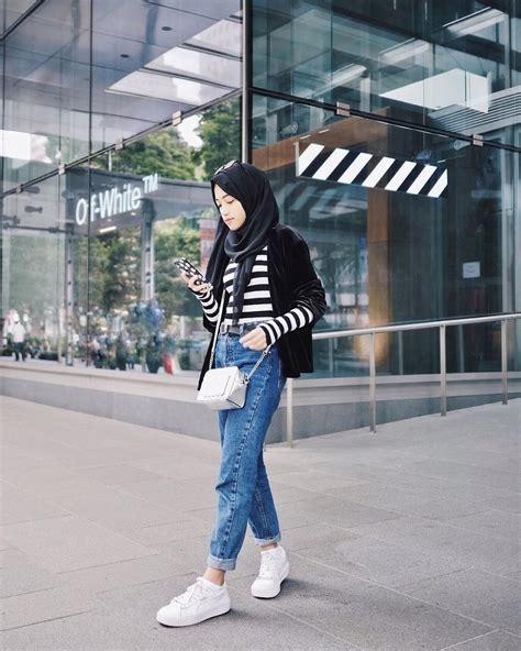 inspirasi outfit berhijab stylish  remaja ala selebgram shirin al atrus