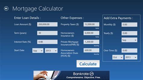 bankrate mortgage  windows