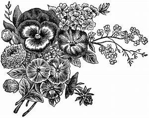 Flower Clipart Black And White - Clipartion.com