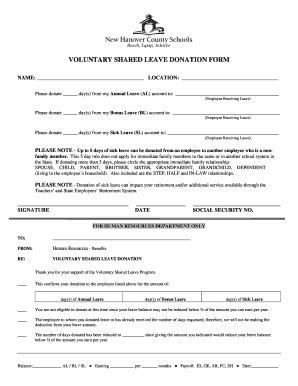 25 printable annual leave leave donation form templates