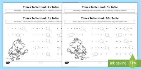 new 2 3 5 and 10 times tables missing numbers worksheet ks1 maths