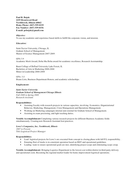 paul bujak resume bullet point 06 14 2009
