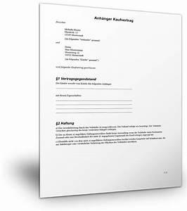 Muster Kaufvertrag Garten : kostenlose vorlage anh nger kaufvertrag ~ Lizthompson.info Haus und Dekorationen