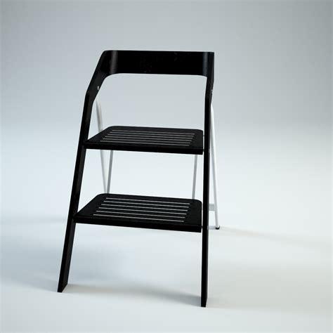 vintage usit stepladder chair 2 step version 3d model max