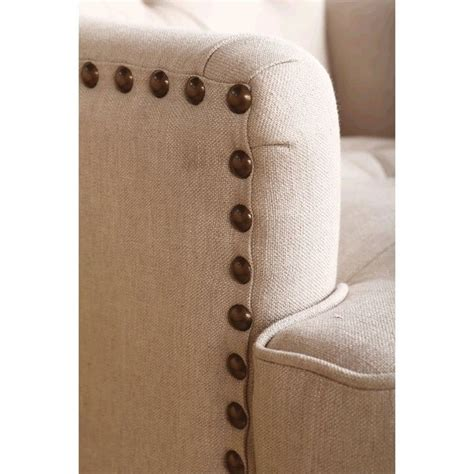 Kyrra Tufted Linen Wingback Dining Chair by Abbyson Living Kyrra Tufted Linen Wingback Dining Chair In