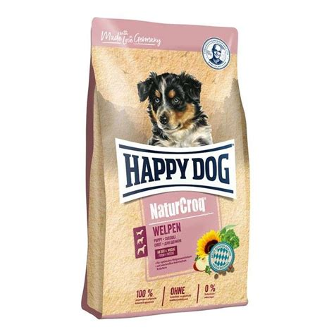 happy dog naturcroq puppies  kg dry puppy food