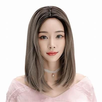 Short Wig Straight Shoulder Middle