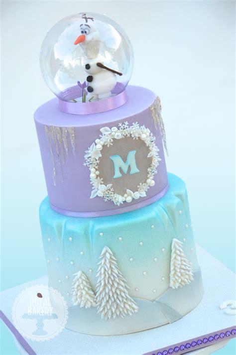 olaf snowglobe frozen cake cakecentralcom