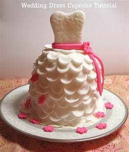 diy how to make beautiful wedding dress cupcakes with With how to make cupcake wedding dress