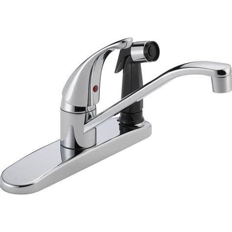single handle kitchen faucet with side spray peerless single handle standard kitchen faucet with