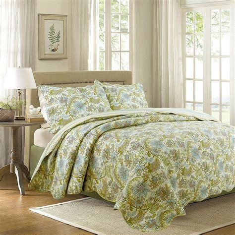 Floral Quilts And Coverlets by Bahama Plantation Floral Garden 100 Cotton Quilt Set