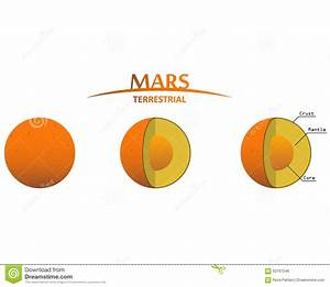 Mars Layers Clipart With Infographics Terrestrial Planet ...
