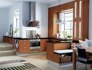 les plus belles cuisines ikea cuisine adel brun fonce With les plus belles petites cuisines