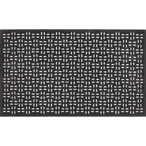 Rubber Doormats by Trafficmaster Black 22 In X 36 In Rubber Door Mat 39 392