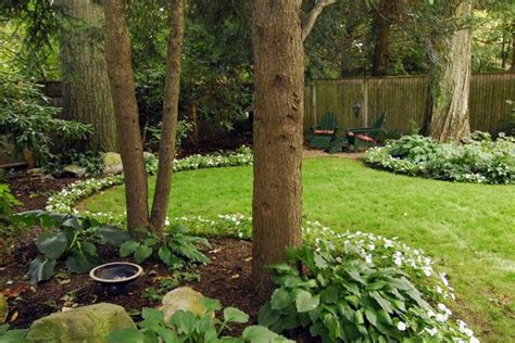 great landscaping ideas great design shallow back yard unlike those long skinny british ones contrast of leaves