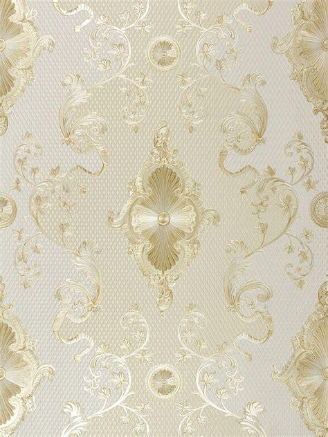 tapete satin barock glanz hermitage creme gold