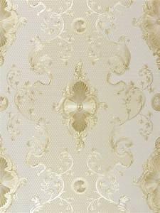 Tapete Dunkelgrün Gold : satintapete barock hermitage glanz creme gold 6829 63 ~ Michelbontemps.com Haus und Dekorationen