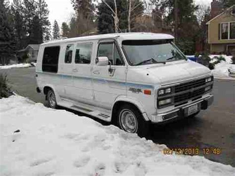 how to fix cars 1992 chevrolet sportvan g20 transmission control find used 1992 chevrolet g20 sportvan conversion van 5 0l low reserve low mileage in spokane