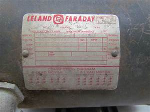 Leland Faraday H56 4hp Electric Motor 1725
