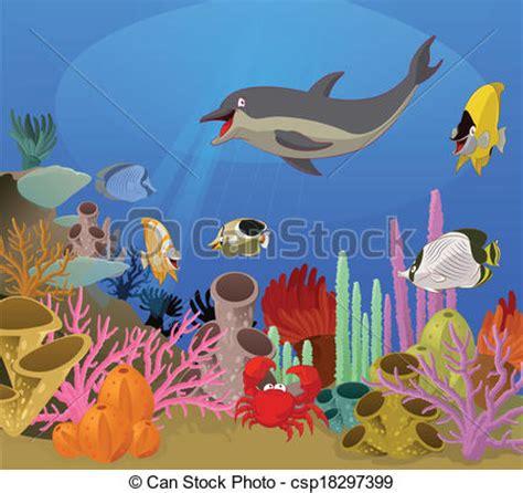eps vectors  sea world vector image  sea world