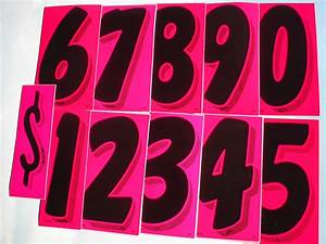 "11 dozen 7.5"" VINYL STICKER NUMBERS Black/Pink FREE ..."