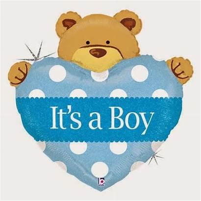 Shower Boy Clip Bear Teddy Clipart Balloon