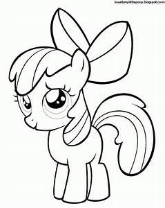 Dibujo Para Colorear De Apple Bloom De My Little Pony 03