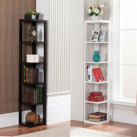 Corner Bookshelf by 5 Tier Wall Corner Bookshelf Rack Storage Display Shelves