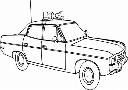 Police Coloring Pages Suv Truck Drawing Printable