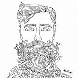 Coloring Adult Therapy Beard Colouring Mandala Desenhos Imprimir Adults Artsy Beards Colorfy Creative Recolor Sheets Don Colorir Flower Visit Doodle sketch template