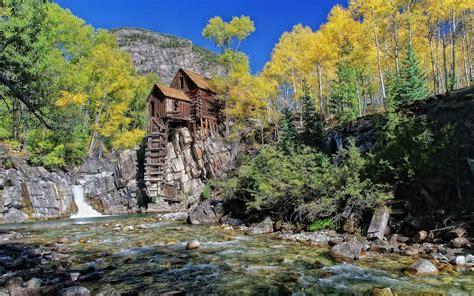 rustic log cabin wallpaper  images