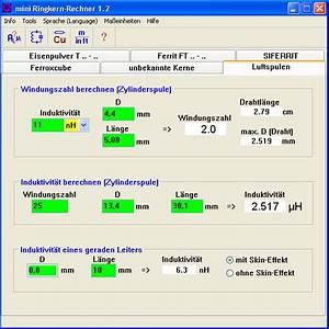 Kondensatormotor Berechnen : induktivit t spule rechner dekoration bild idee ~ Themetempest.com Abrechnung