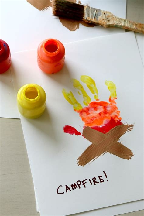 campfire handprint art  printable