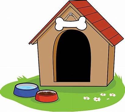 Dog Clipart Cartoon Kennel Clip Doghouse Vector