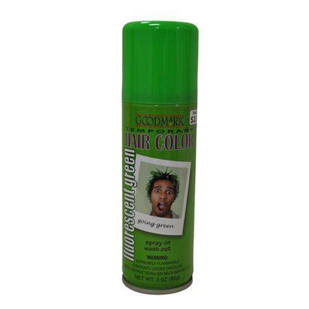 walmart temporary hair color goodmark temporary hair color spray green walmart