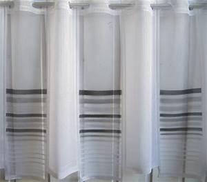 Scheibengardinen 100 Cm Hoch : scheibengardine wei grau schwarz querstreifen 60 cm hoch ~ Bigdaddyawards.com Haus und Dekorationen