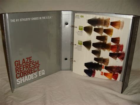 redken shade binder hair color chart swatch book