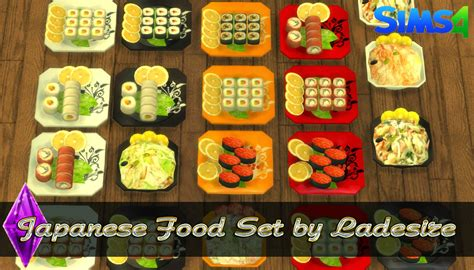cuisine sims 3 ladesire 39 s creative corner ts4 japanese food set by