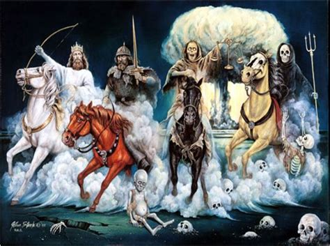 horsemen four apocalypse verses revelation prophecy scripture