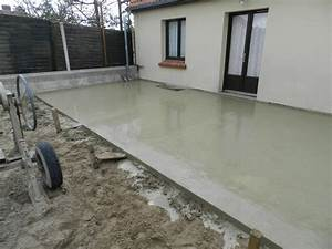 Construction dalle beton pour terrasse for Realisation dalle beton terrasse