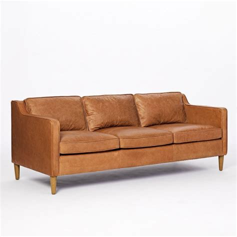 Leather Sofa Loveseat by Hamilton Leather Sofa 206 Cm West Elm Australia
