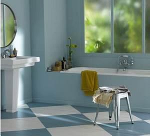 Peinture Balcon Sol : salle de bains couleur bleu peinture sol et mur v33 ~ Premium-room.com Idées de Décoration